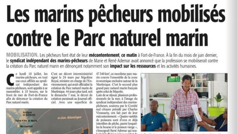 Les marins pêcheurs mobilisés contre le Parc naturel marin