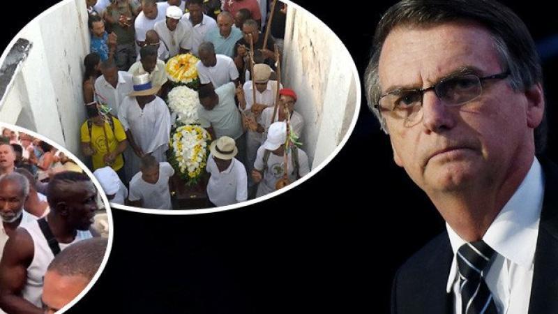 Morto por bolsonarista, capoeirista é enterrado aos gritos de 'EleNão'
