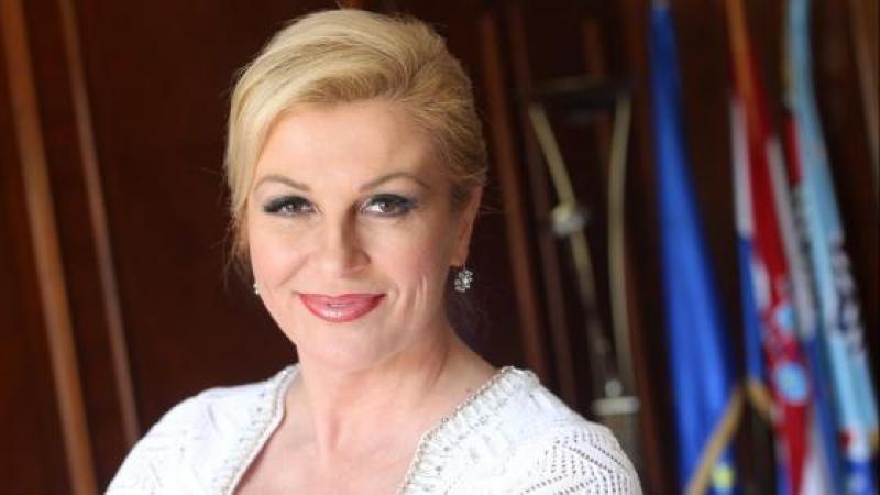 La Presidente De La Croatie Kolinda Grabar Kitarovic Est Uneasse