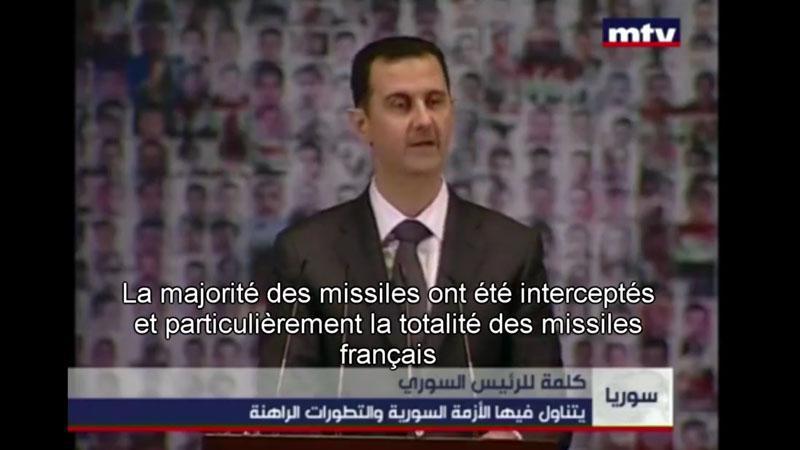 """Bachar Al-Assad ba Macron : """"16 million éwo misil-la ou makayé a, ou té pé sèvi'y ba madjendjen lakay-ou !"""""""