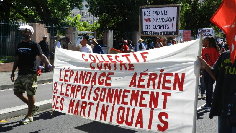De la manifestation contre l'épandage aérien et l'empoisonnement des Martiniquais, le 23 février 2013