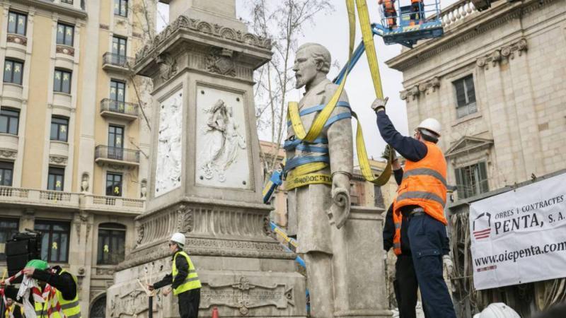 Barcelona retira la estatua de Antonio López