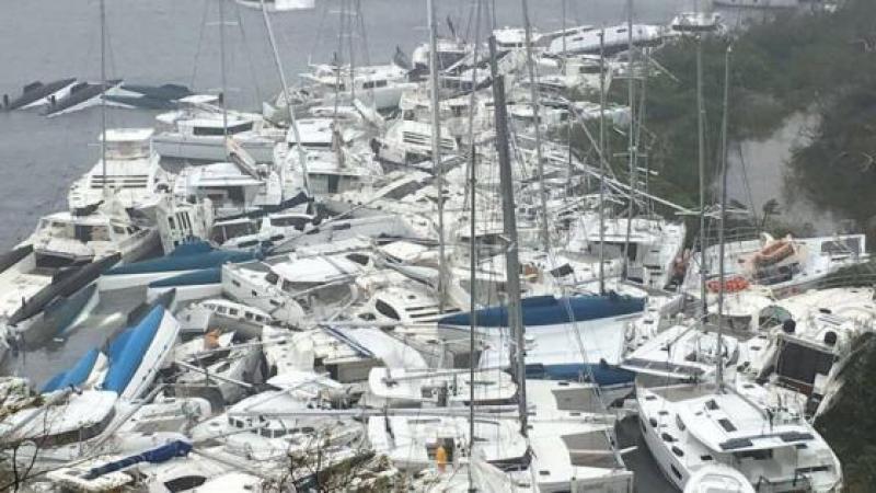 Cyclone Irma, la flotte de location de bateaux décimée