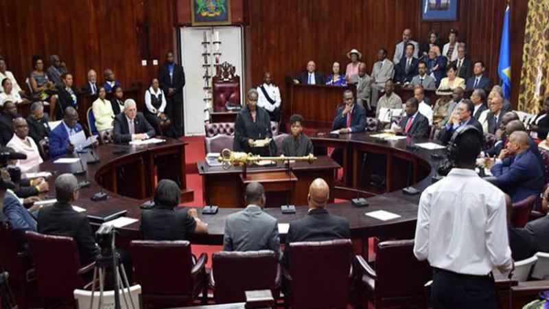 Débat à l'Assemblée nationale de Sainte-Lucie en anglais et en créole