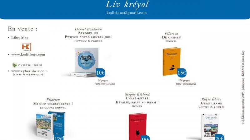 K-EDITIONS PUBLIE 5 LIVRES EN CREOLE D'UN COUP !