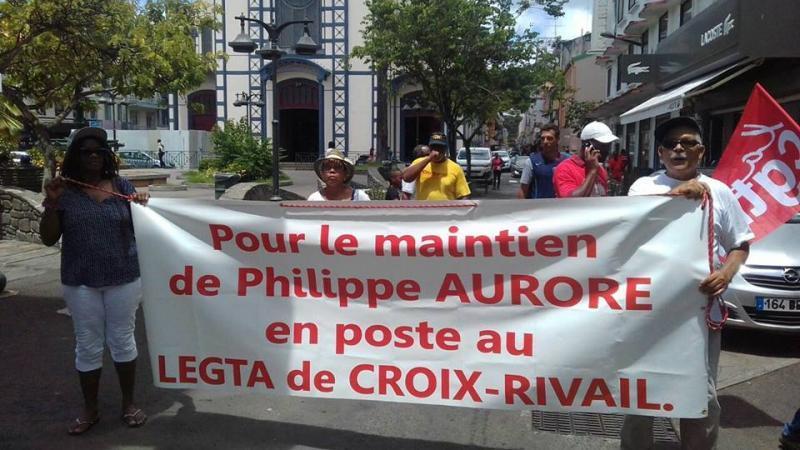 MOTION DES ELUS DE L'ASSEMBLEE DE MARTINIQUE SUR LA SITUATION DE PHILIPPE AURORE, DIRECTEUR DE L'EPLEFPA DE CROIX RIVAIL