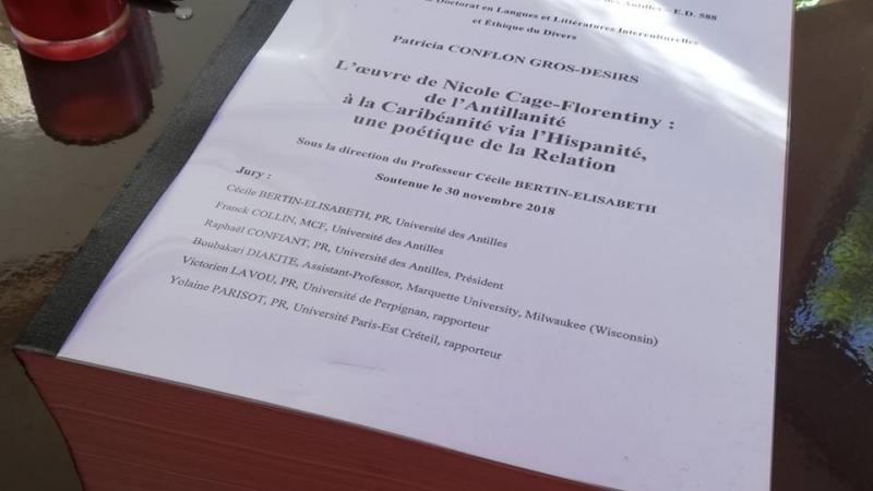 Une thèse de doctorat soutenue sur l'œuvre de Nicole Cage-Florentiny