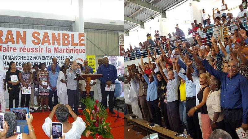 """Il y a 5 ans, le """"Gran Sanblé Pou Ba Péyi-a an Chans"""" prenait les commandes de la CTM"""