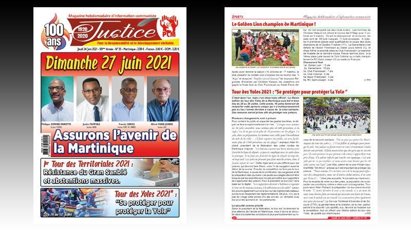 Dimanche 27 juin, Assurons l'avenir de la Martinique en votant massivement pour le Gran Sanblé