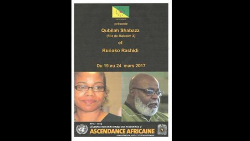 Qubilah Shabazz (fille de Malcolm X) en Guyane pour les 50 ans du drapeau