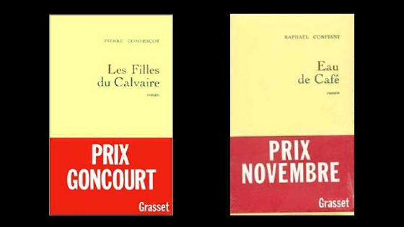 """""""LES FILLES DU CALVAIRE"""" ET """"EAU DE CAFE"""", FINALISTES DU PRIX GONCOURT 1991"""