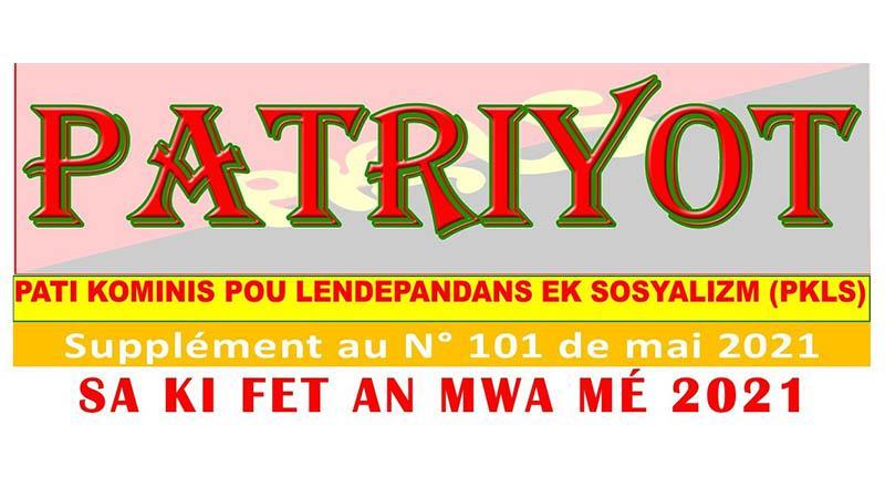 Supplément au Patriyot #101 Mai 2021