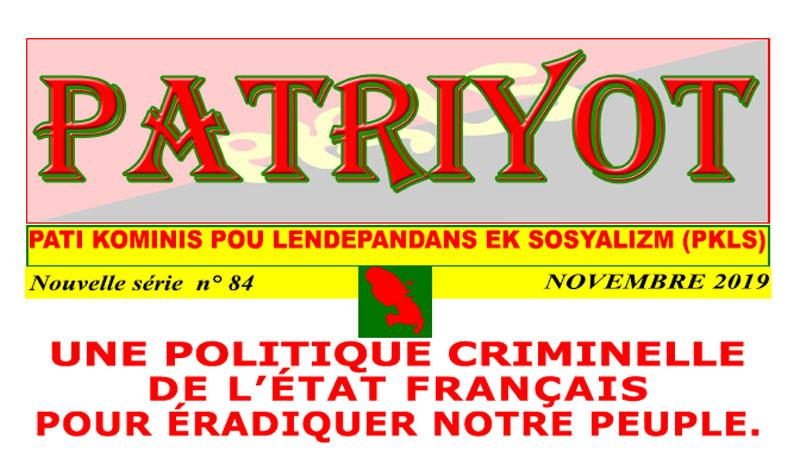 Patriyot #84 Novembre 2019