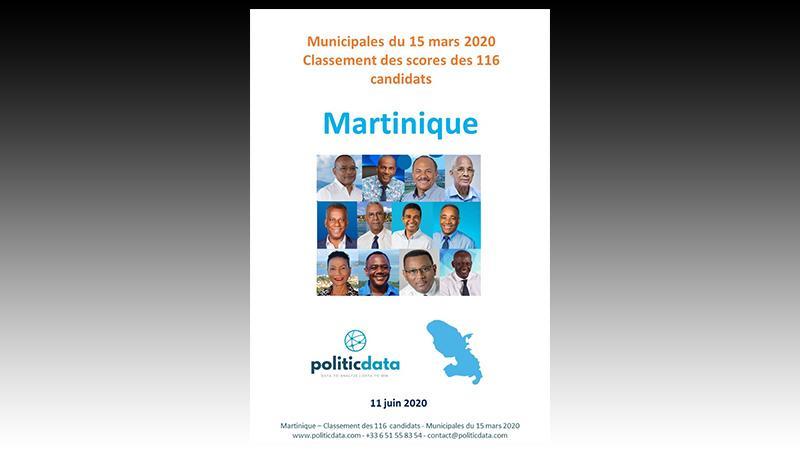 Municipales du 15 mars 2020 : Classement des scores des 116 candidats en Martinique