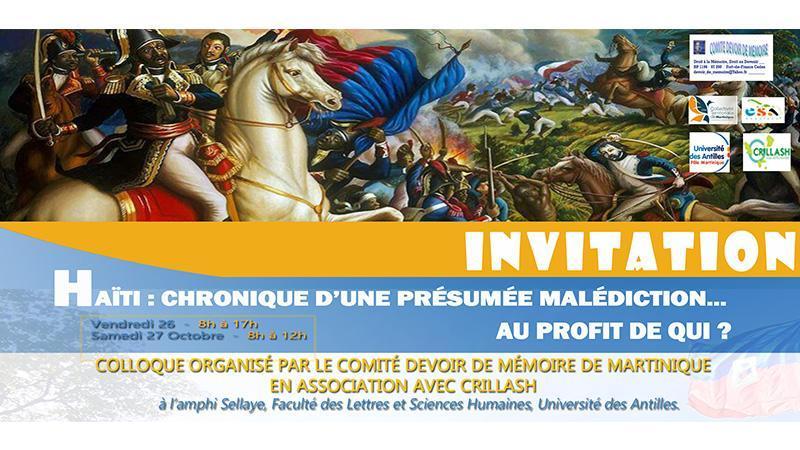 PROGRAMME COLLOQUE  « Haïti : Chronique d'une malédiction présumée »