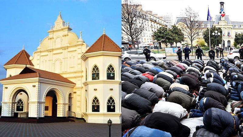 De belles églises pour les chrétiens en terre musulmane, le bitume en terre chrétienne pour les musulmans...