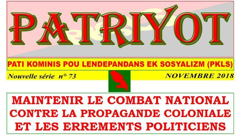 Patriyot #73 Novembre 2018