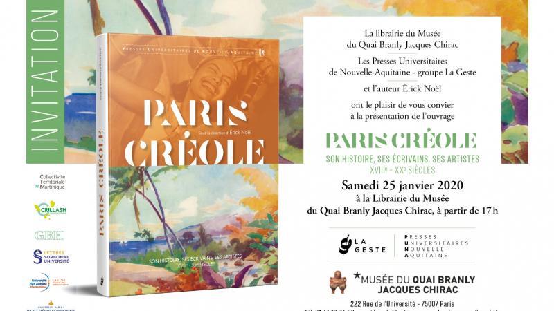 """Présentation de l'ouvrage """"PARIS CREOLE"""""""