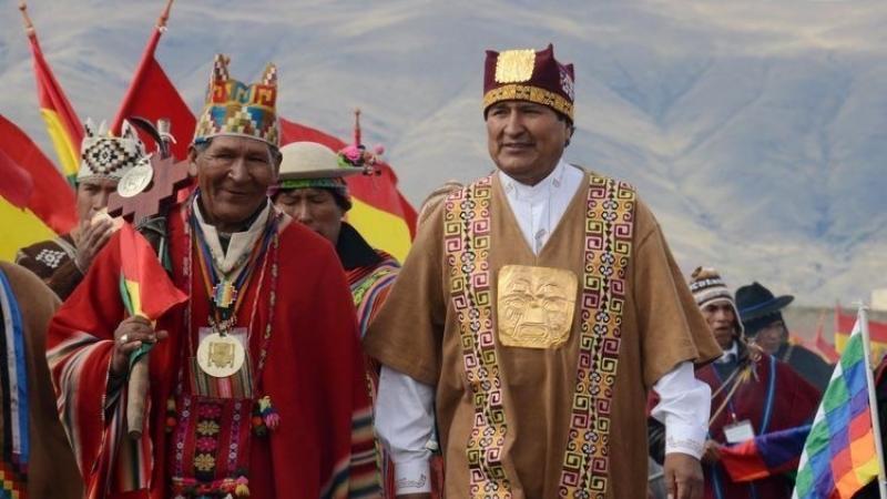 """Evo Morales: """"Aquí no mandan los gringos, aquí mandan los indios"""""""
