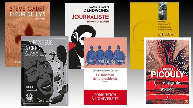 Sélection de livres martiniquais, guadeloupéens et guyanais pour le mois d'août