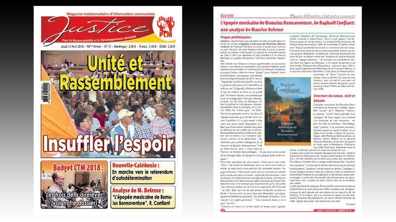 """""""JUSTICE"""" n° 14 : budget de la ville de Fort-de-France ; affaire CEREGMIA ; un """"radar"""" pour le BTP ; austérité de l'ère MACRON..."""