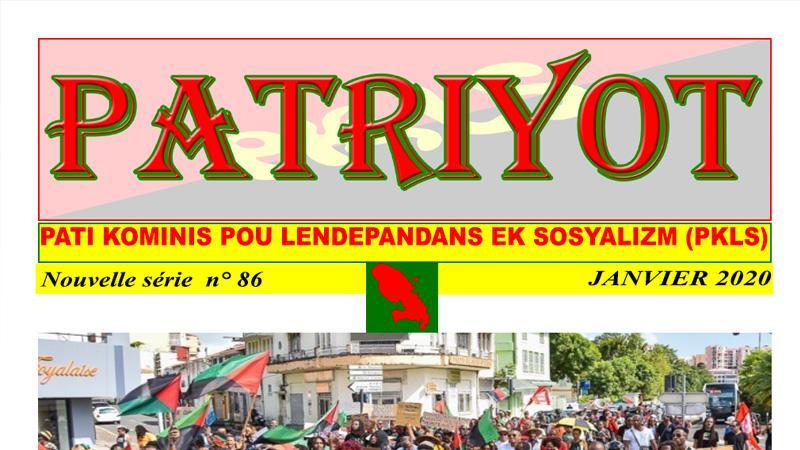 Patriyot #86 Janvier 2020