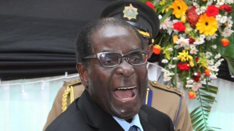 Robert Mugabe, met-a-manyok Zimbabwe, ka fè nou pété ri