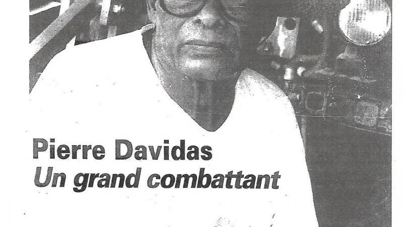 Une pensée pour Pierre Davidas