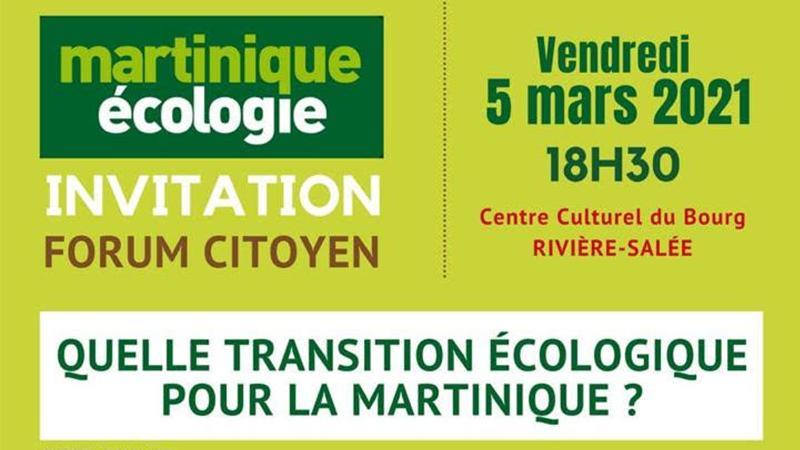 """Conférence-débat de Martinique-Ecologie à Rivière-Salée sur """"la transition écologique"""""""