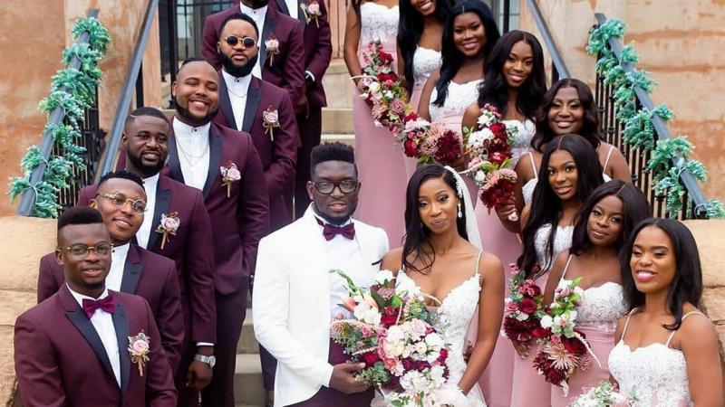 Un mariage entièrement noir !