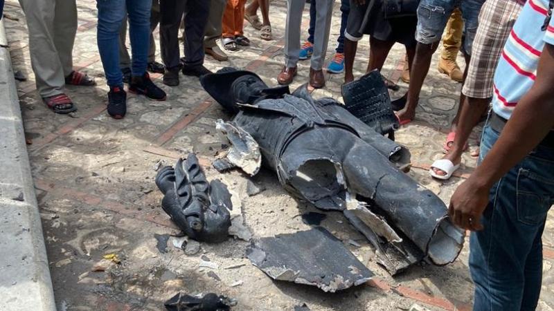 Vandalisme à Cap-Haïtien : la statue de Jean Jacques Dessalines déboulonnée
