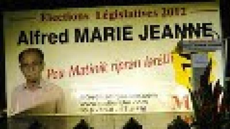 ALFRED MARIE-JEANNE - INVESTITURE AUX LEGISLATIVES DE JUIN 2012