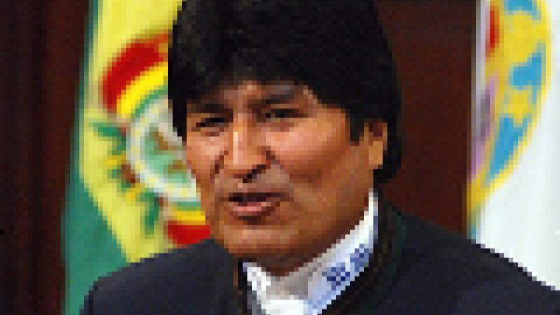 EL PUEBLO BOLIVIANO ESTA Y ESTARA SIEMPRE CON CHAVEZ Y VENEZUELA, EXPRESO EVO MORALES