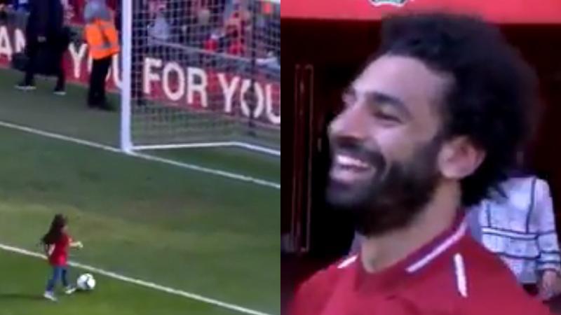 Ti fi foutbalè Liverpool la, Mo Salah, za ni bon boul anba plat pié'y