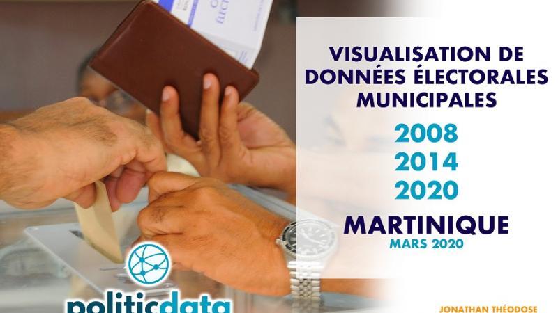 VISUALISATION DE DONNÉES ÉLECTORALES - MUNICIPALES 2008-2020 - MARTINIQUE