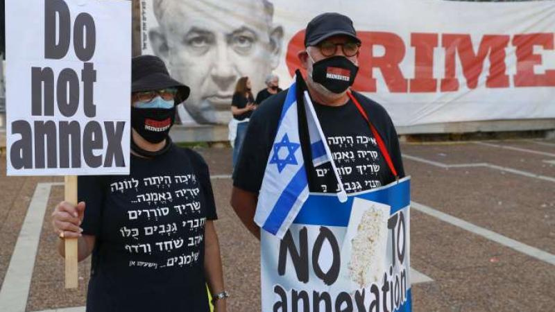Des milliers de personnes manifestent à Tel-Aviv contre le projet d'annexion en Cisjordanie