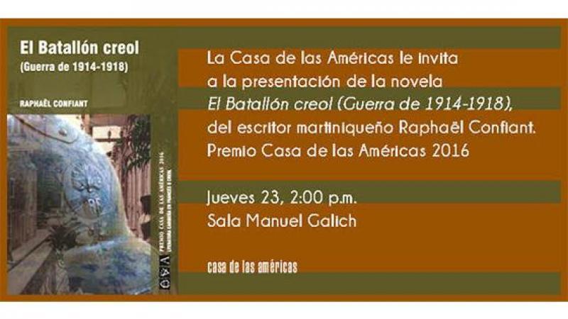 """Centro de Estudios del Caribe (Cuba) : présentation de la traduction du """"Bataillon créole"""""""