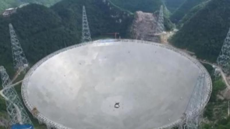 LA CHINE TERMINE LA CONSTRUCTION DU PLUS GRAND TELESCOPE DU MONDE