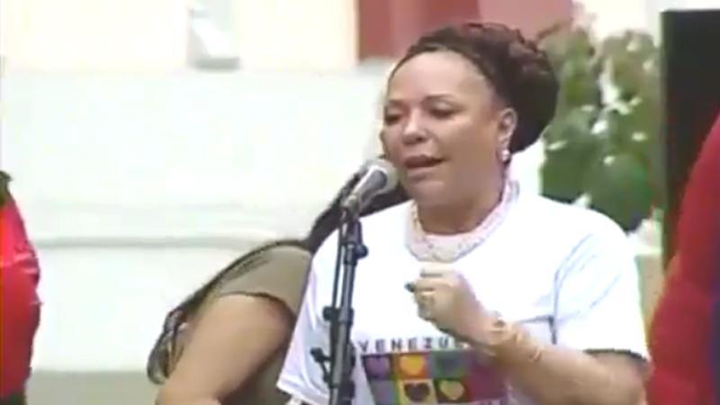 Piedad Cordoba, sénatrice afro-colombienne, soutient la Révolution bolivarienne