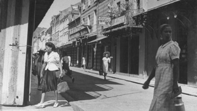 La population et l'économie de la Martinique en 1960
