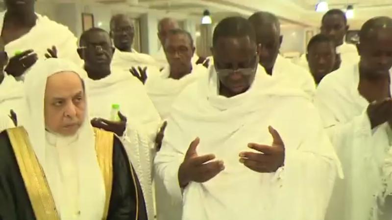 Pèlerinage du président Macky Sall du Sénégal à la Mecque