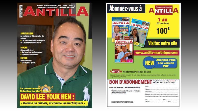 """""""ANTILLA"""" n° 10808 : l'imbroglio du TCSP ; les Chinois de la Martinique ; Spiri-tourisme ; Marie-Jeanne/Nilor : un """"mystère"""" qui dure ; trois questions à Yan Monplaisir..."""