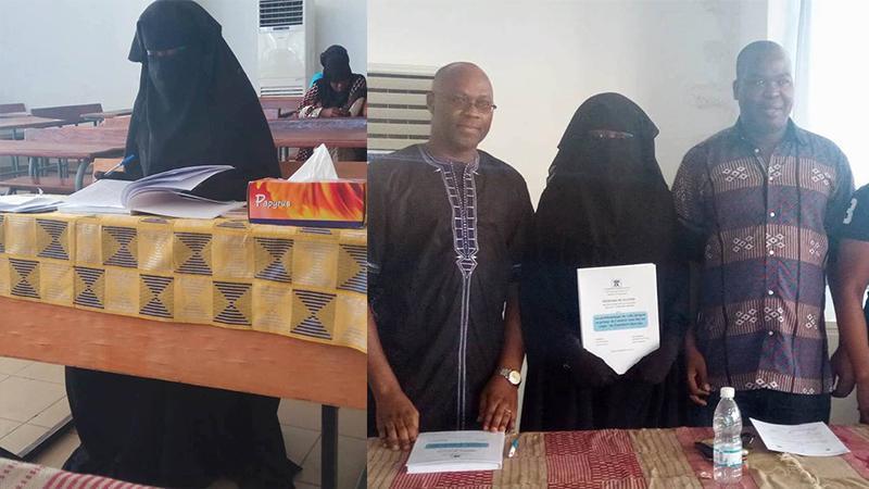 Une étudiante ivoirienne soutient son Master en...burqua