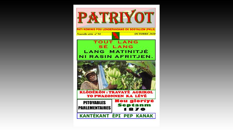 Patriyot #94 Octobre 2020