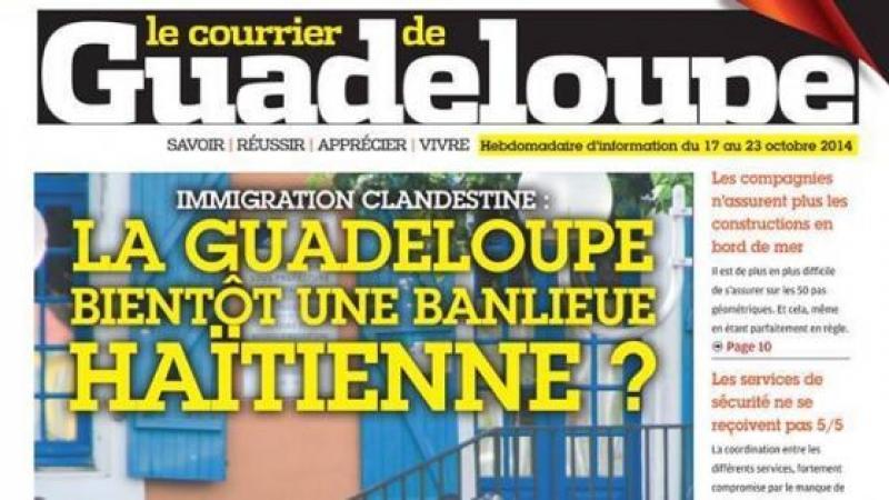GUADELOUPE : LA « UNE » DE LA HONTE