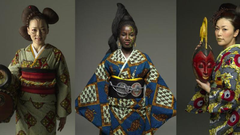 Un artiste camerounais et un designer japonais lançent un ligne de kimono étonnante