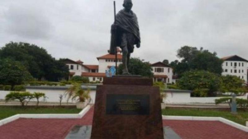 GHANAIANS WANT THIS STATUE OF BLACK PEOPLE HATER MAHATMA GHANDI REMOVED