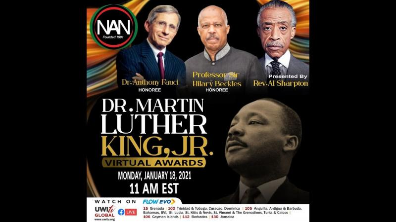 Martin Luther King Award for Sir Hilary and Dr Fauci