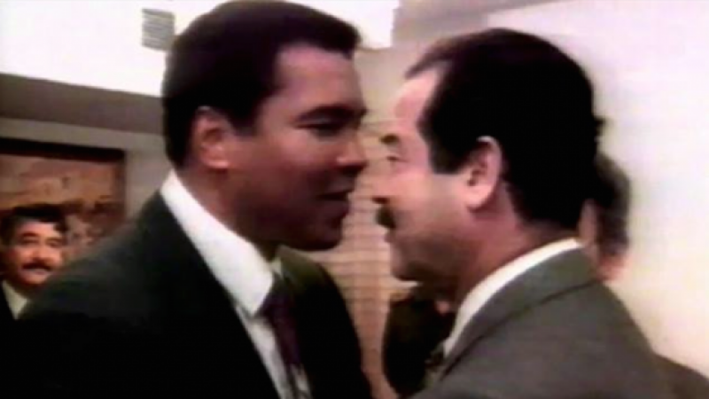 REMEMBER THE TIME MUHAMMAD ALI MET SADDAM HUSSAIN AND FREED 15 HOSTAGES?