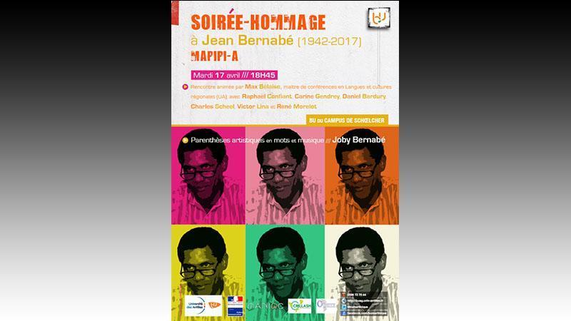 Soirée hommage à Jean Bernabé à la bibliothèque universitaire du campus de Schoelcher